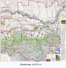 خرائط القوقاز والشيشان