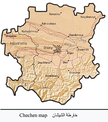 خرائط القوقاز والشيشان_3
