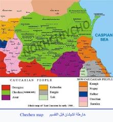 خرائط القوقاز والشيشان_5